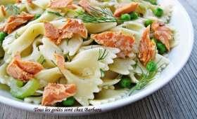 Salade de pâtes au saumon sockeye et à l'aneth