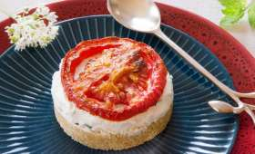 Tomates confites et chèvre frais comme un cheese-cake
