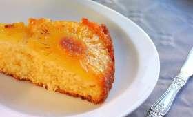Gâteau renversé à l' ananas et noix de coco