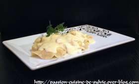 Raviole de saumon à la ricotta sauce parmiggiano