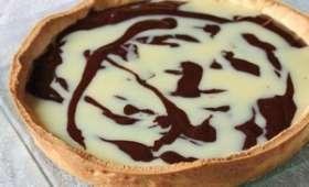 Tarte marbrée amande et chocolat