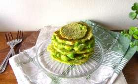 Pancakes verts aux petits-pois
