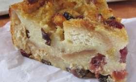 Bread pudding aux fruits confits