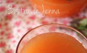 Jus de pamplemousse thé vert et orange