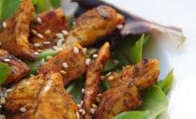 Salade de dinde au paprika et sésame