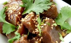 Tartare de thon sauce soja