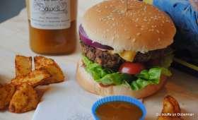 Burgers marinés à la sauce barbecue miel et moutarde