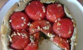 Tatin de tomates farcies au thon et aux herbes