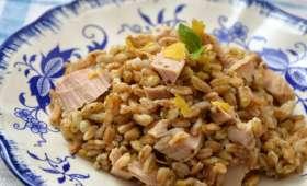 Salade de Petit Épeautre, Thon, Citron et Basilic