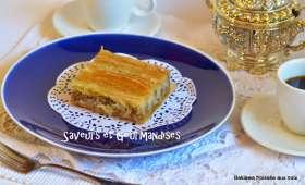 Baklava froissée aux noix.