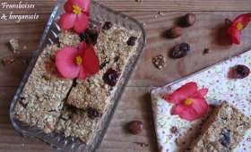 Barres de céréales noisettes, abricots et cranberries