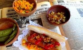 Hot-Dogs Vegan et leur Garnitures (Achards créole)