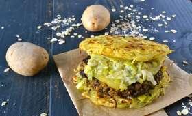 Potato burger et son steak végétal