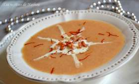Velouté de crevettes grises au curry et safran
