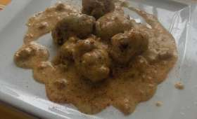 Topinambours sauce poulette