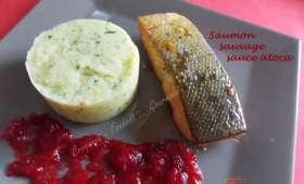 Saumon sauvage sauce atoca