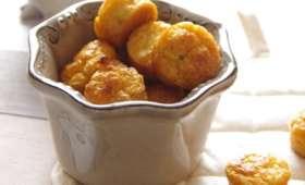 Minis muffins safranés aux tomates séchées