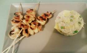 Brochette de poulet yakitori