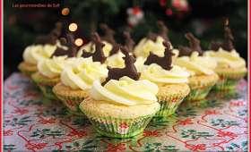 Sponge cupcakes de Noël
