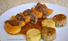 Filets de canard aux mandarines, sauce balsamique