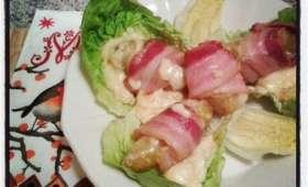 Pommes de terre enroulées au lard et à la raclette