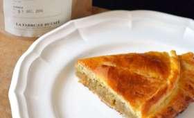 Galette des Rois à la Crème d'amande parfumée au Café et aux Écorces d'Orange confites