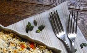 Crumble de butternut et panais aux graines de courge