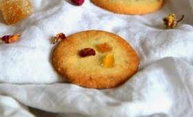 Biscuits à la Rose et au Gingembre confit