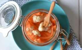 Légumes croquants aigres-doux au vinaigre