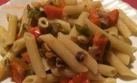 Penne champignons, poivrons, carottes