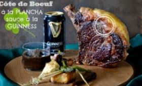 Côte de boeuf à la plancha et sauce Guinness pour la Saint-Patrick