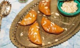Katayef au fromage kiri et aux amandes