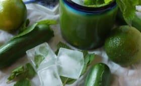 Agua fresca concombre, citron vert, menthe