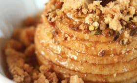 Pommes aux four pistache et crumble