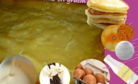 Blinis dessert à la crème aux oeufs, vanille - blintzes souflés