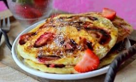 Pancakes moelleux aux fraises