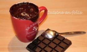 Mug Cake au chocolat coulant