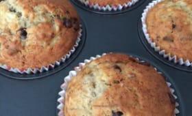 Muffins aux bananes et aux pépites de chocolat