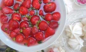 Fraises à l'eau de rose
