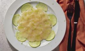 Carpaccio de Saint Jacques au citron vert