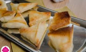Samoussa au fromage de chèvre et miel