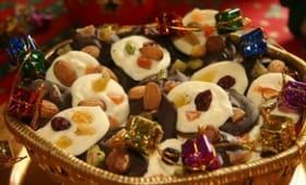 Mendiants aux trois chocolats et treize desserts de Noël