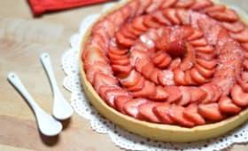 Tarte aux fraises et framboises