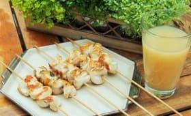 Brochettes de poulet mariné au pastis