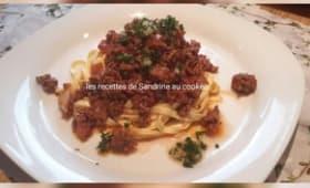 Linguine sauce bolognaise