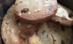Cookies noisettes, pépites de chocolat et sirop d'érable