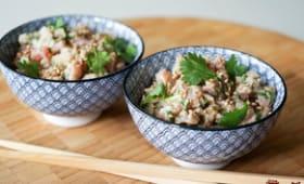 Tartare de thon aux saveurs asiatiques