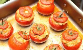 Tomates farcies au boulghour fermenté