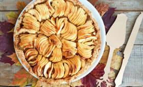 Tarte aux pommes très pomme