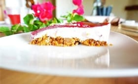 Cheesecake aux framboises et spéculoos